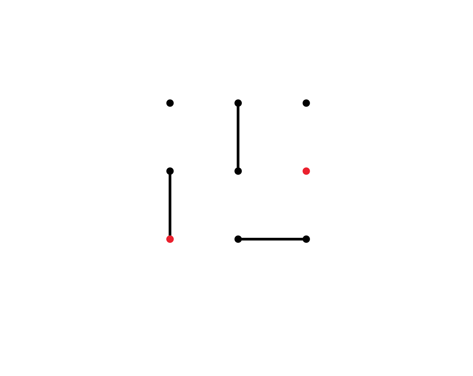 19 3 visible lines of movement plus a wish to set up a communication between two red points